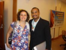 Profa. Dra. Carolina Fishinger e Prof. Gildásio Carvalho coordenador do SIAT/BA