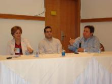 Professores Maria Betânia Toralles, Manoel Sarno e Carlos Menezes